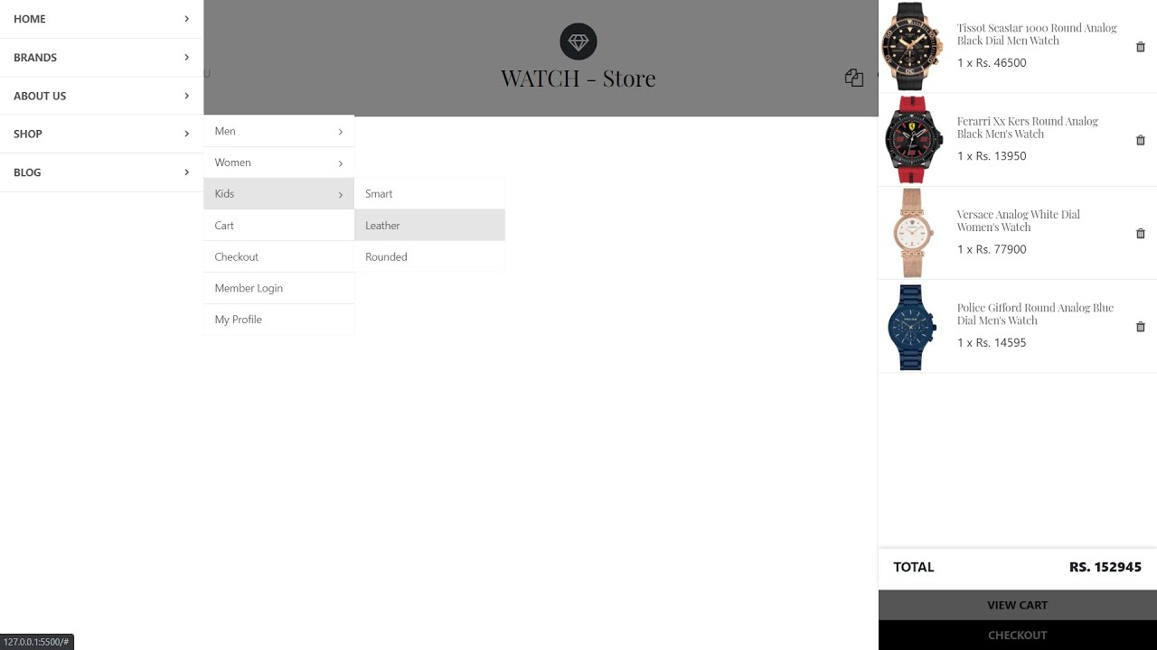 Watch Website   E-commerce Website using HTML , CSS and jQuery   Part 1