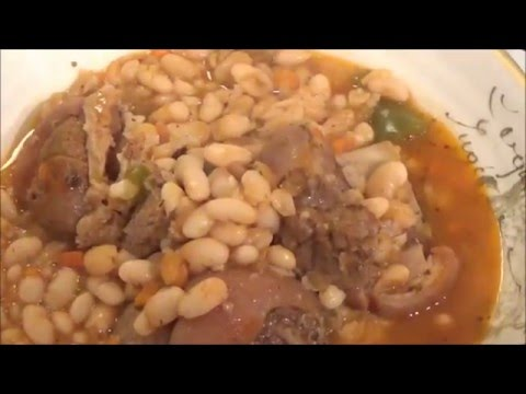 the best pork shoulder with navy beans