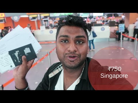 Indian Travelling to Singapore at ₹ 750 Only || #Asia Tour | Budget Trip ||