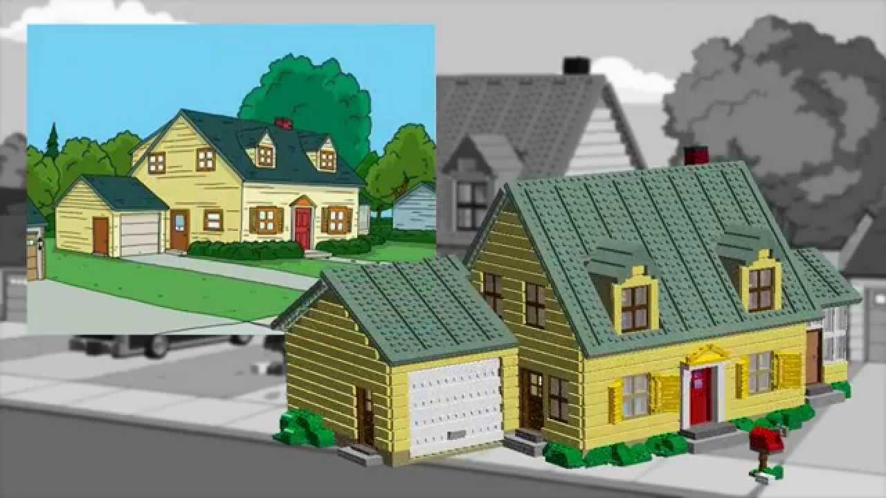 Real Life Lego House Lego Family Guy House Youtube