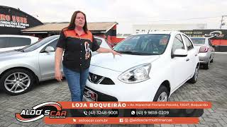 NISSAN MARCH TOP DE LINHA É AQUI NA ALDO'S CAR MULTIMARCAS