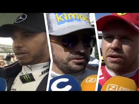 F1 2018 Spanish GP - Post Race Interviews Vettel, Alonso, Hamilton & More