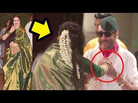 Jackie Shroff's CUTE Masti With Rekha & Madhuri Dixit At Mukesh Ambani's Ganpati Party 2018 thumbnail