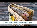7 Dots Studio  - mini album - part 2 - tutorial by Ola Khomenok