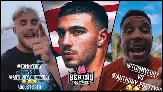 WOW! JAKE PAUL'S SPARRING PARTNER ANTHONY TAYLOR SENDS MESSAGE TO TOMMY FURY! | SHOWTIME BOXING