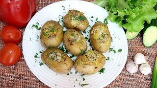 Картофель запеченный в духовке с чесноком и пряными травами