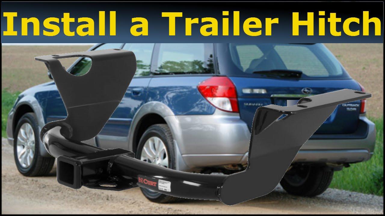 Subaru Premium 2014 >> How to install a Trailer Hitch Subaru Outback 2008 - YouTube