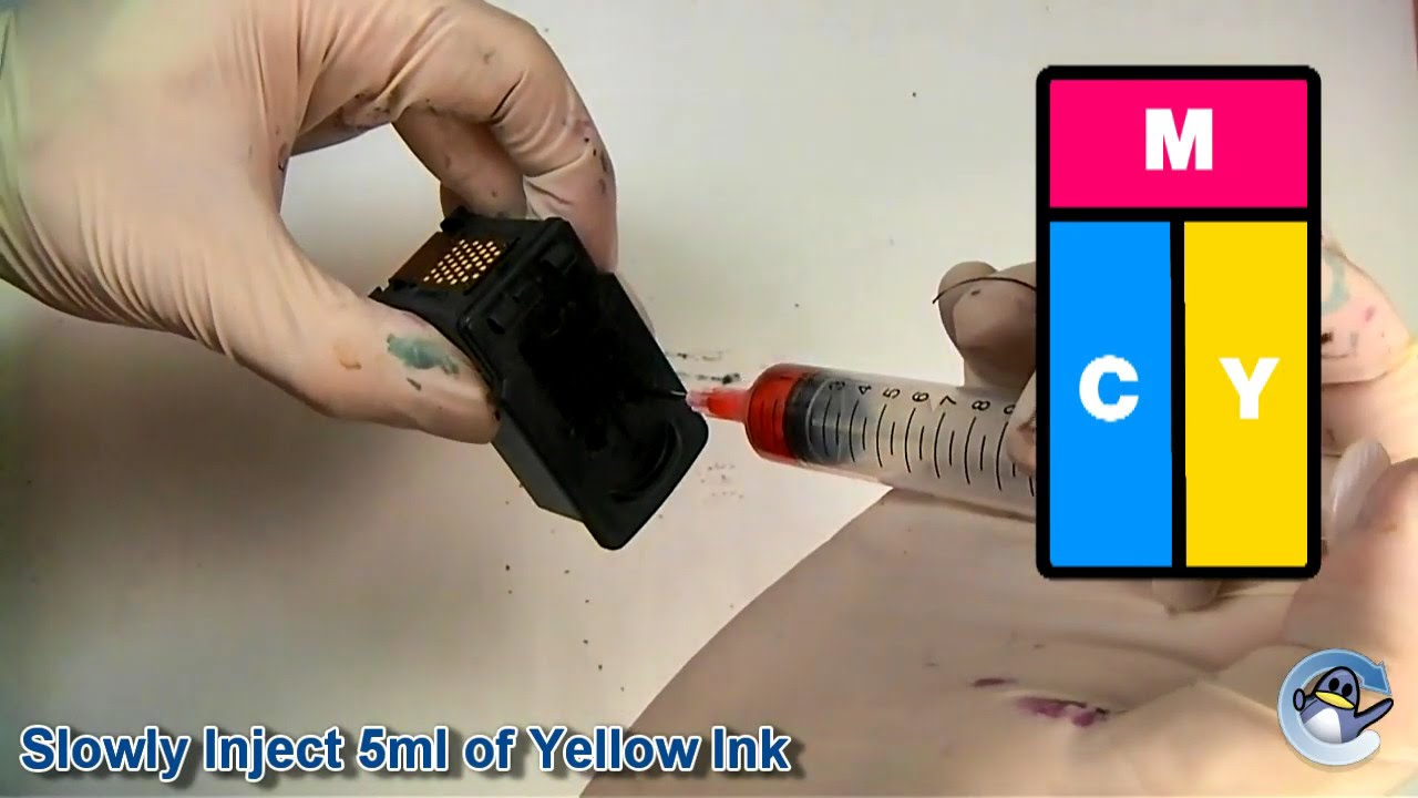 Inside Canon PG-510 Black Ink Cartridge - YouTube