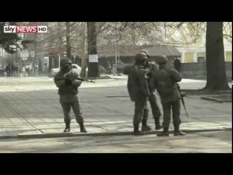 Russia Invades Ukraine taking over Ukraine's Crimea Region