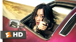 Diamond cartel (2017) - minigun car chase scene (5/10) | movieclips