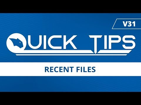 Recent Files - BobCAD-CAM Quick Tips: V31
