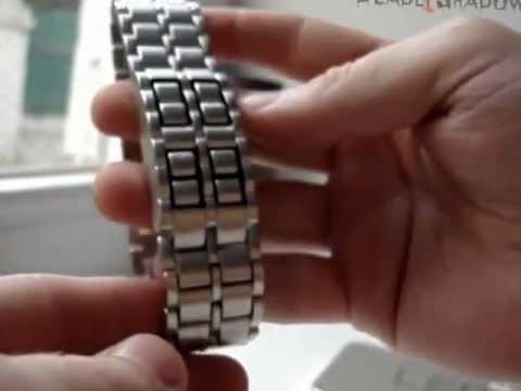 Cмотреть видео LED Часы- Iron Samurai