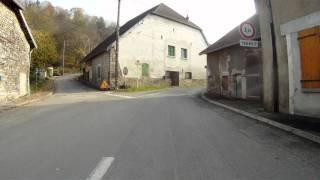 vélo route Pont les Moulins Baume AR