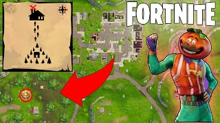 Fortnite Battle Pass Week 10 - Search Between a Stone Circle, Wooden Bridge & a Red RV