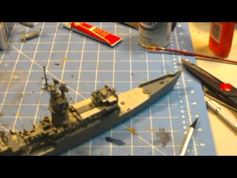 USS Knox resin models build: part 4