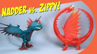 How to Train Your Dragon 2 Dark Deadly Nadder and Orange Flame Zippleback