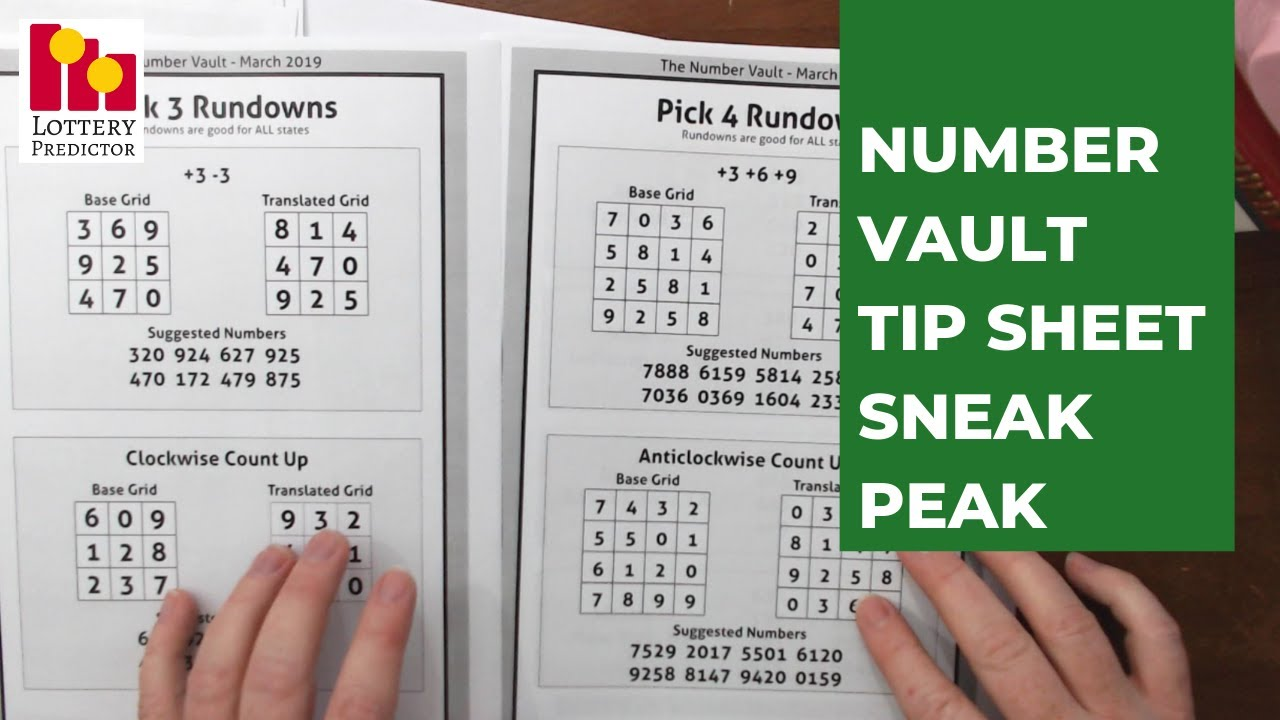 How To Use The Number Vault Tip Sheet - Pick 3 And Pick 4 Hot Numbers