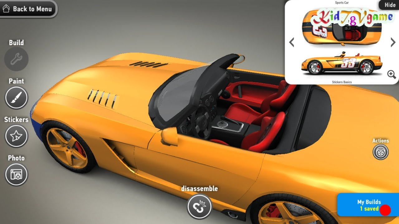 Make Your Own Car >> Create Your Own Sport Car Cartoon Cars Cars Race For Kids Android Games