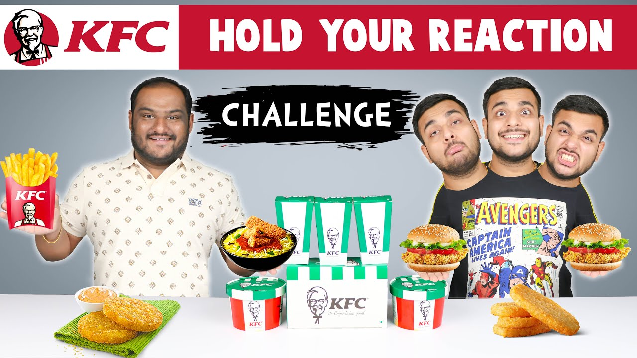 HOLD YOUR REACTION FOOD CHALLENGE | Kfc Food Challenge | Kfc Meal Eating Challenge | Viwa Food World