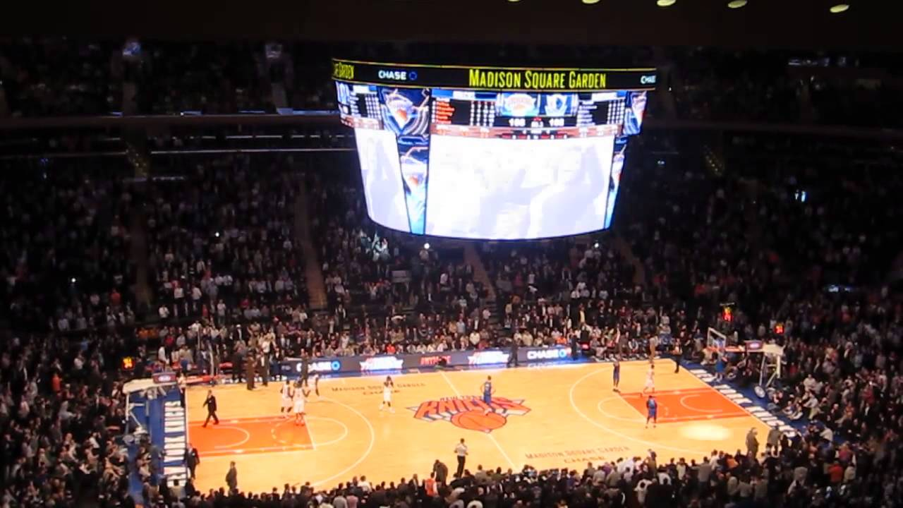 Basketball game knicks vs mavericks at the madison square garden february 2014 youtube Madison square garden basketball