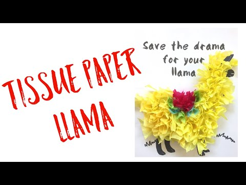ART FOR SENIORS WITH DEMENTIA 6: Tissue Paper Llama