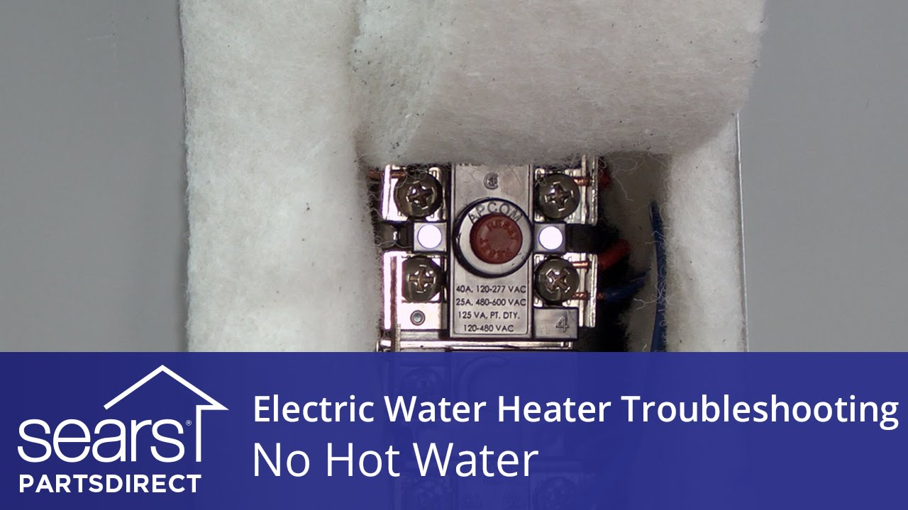 No Hot Water: Electric Water Heater Troubleshooting Water Heater Wiring Diagram For Sears on