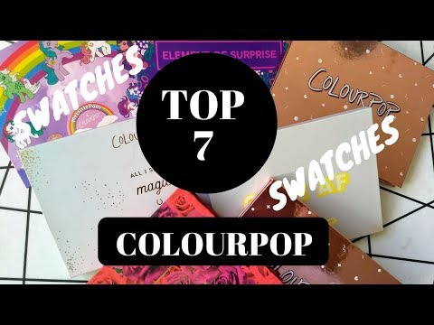 BEST COLOURPOP EYESHADOW PALETTES 2017. From Double Entendre to I Think I love You.