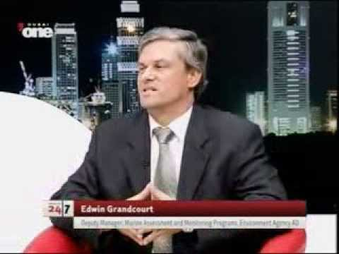 Interview with Edwin Grandcourt, discussing Abu Dhabi's fish stock on Dubai One
