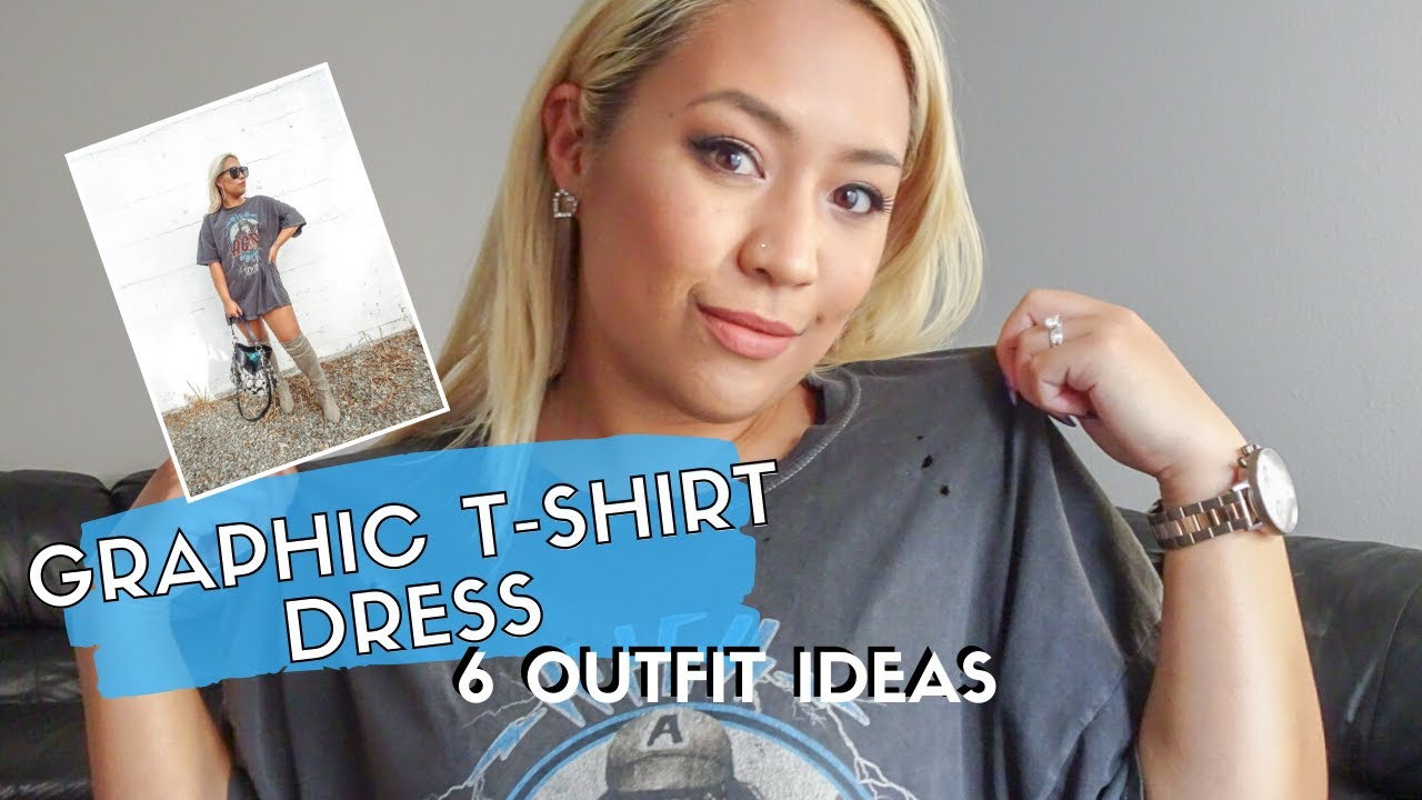 [VIDEO] - HOW TO STYLE OVERSIZED GRAPHIC TEES | 6 Chic Outfit Ideas for an Urban Outfitters T-Shirt Dress 9