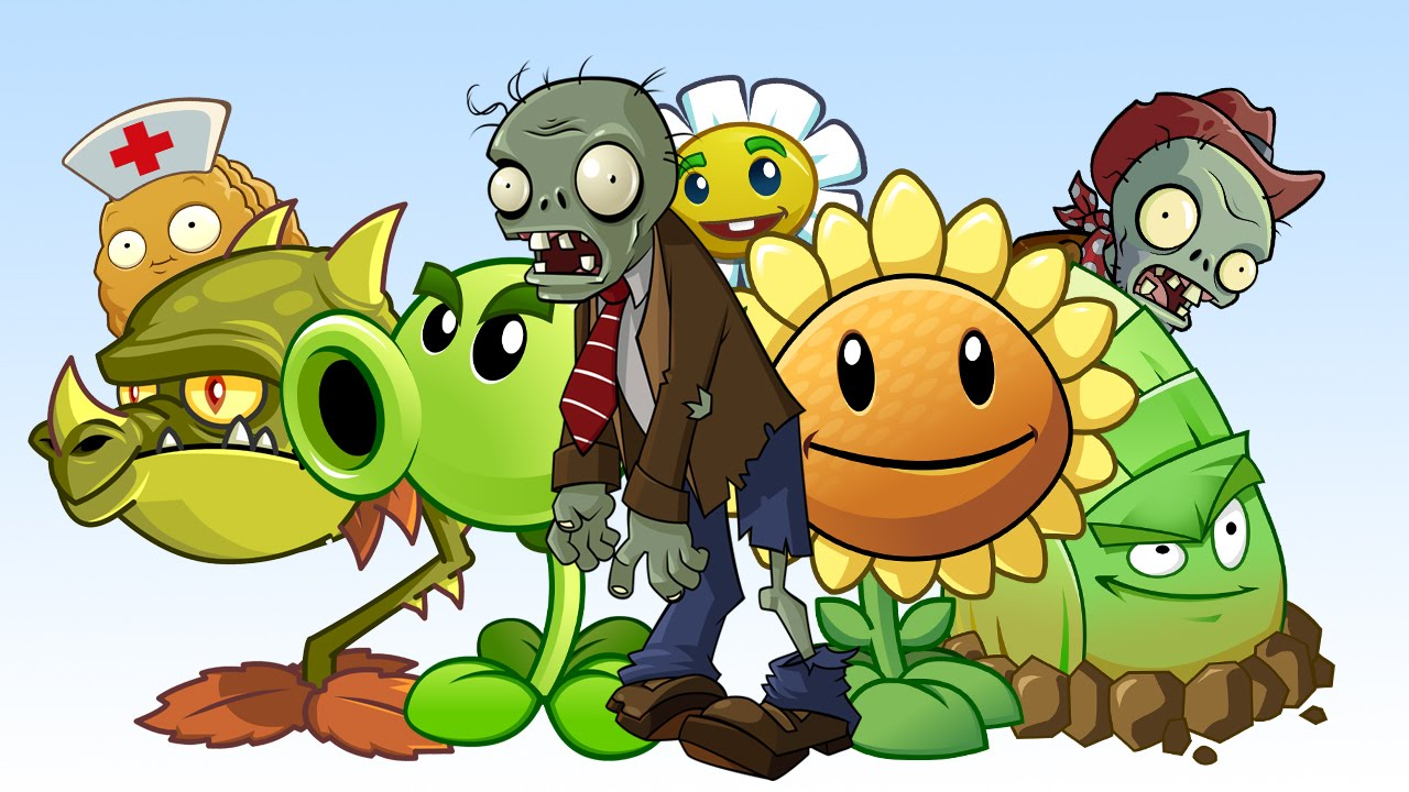drawing plants vs zombies speed time lapse
