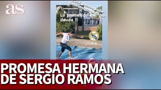La hermana de Ramos hizo una promesa si Sergio marcaba en el Clásico: vean lo que pasó...