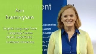 MEDIAL | Video Testimonial | Anne Brantingham   Xi'an Jiaotong Liverpool University
