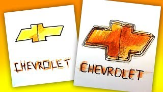 How to draw CHEVROLET logo / AUTO LOGO car