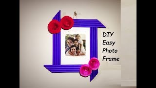 DIY Easy Photo Frame [ Made with Colorful Paper ]