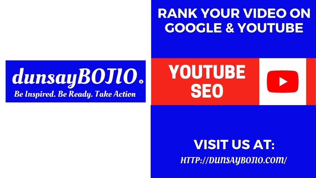 YouTube SEO How To Rank YouTube Videos On Google @ ( Video SEO) @ (Youtube SEO) - YouTube