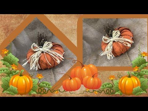 DIY Rustic Farmhouse Pumpkin