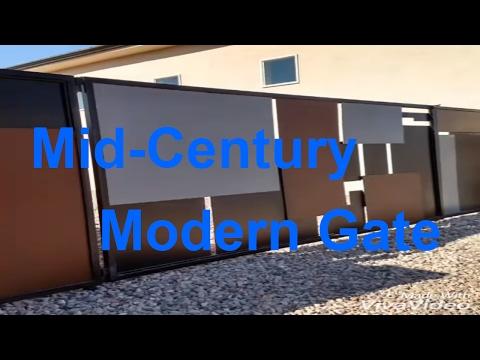 Mid century modern gate. DIY