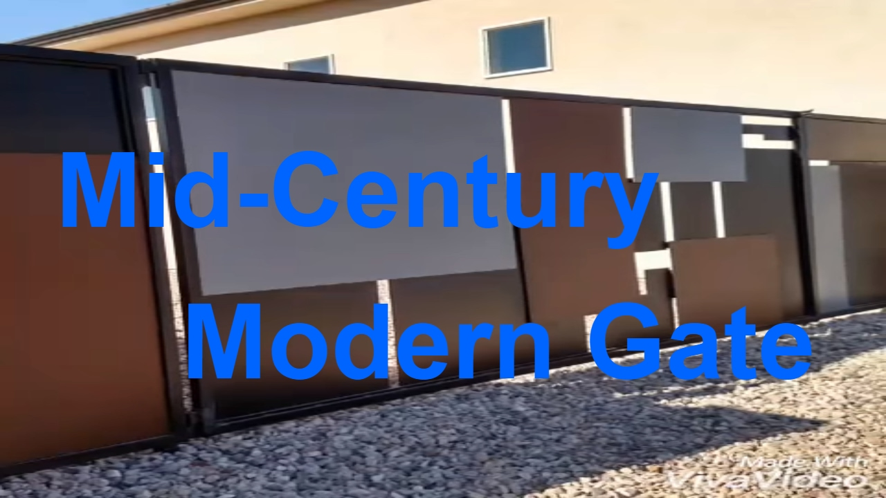Mid Century Modern Gate Diy Youtube
