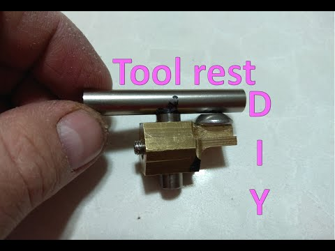 Wood turning tool rest DIY
