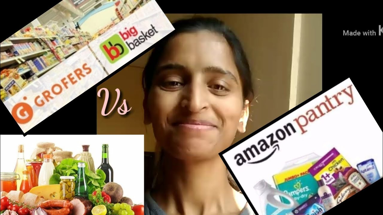 Online Shopping ?with GROFER | BIGBASKET | AMAZON PANTRY | Online Grocery shopping Review in Hindi