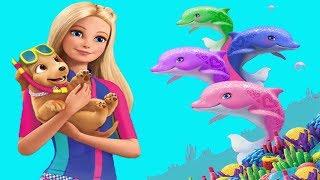 Барби и волшебные дельфины Игры с Барби спасает дельфинов #Малинки DOLL