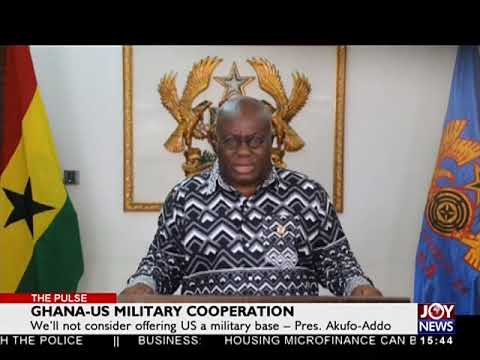 Ghana-US Military Cooperation - The Pulse on JoyNews (6-4-18)