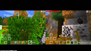 Minecraft PE Seeds: Podzol, Wolves, Spruce Trees, Mountains, Caves
