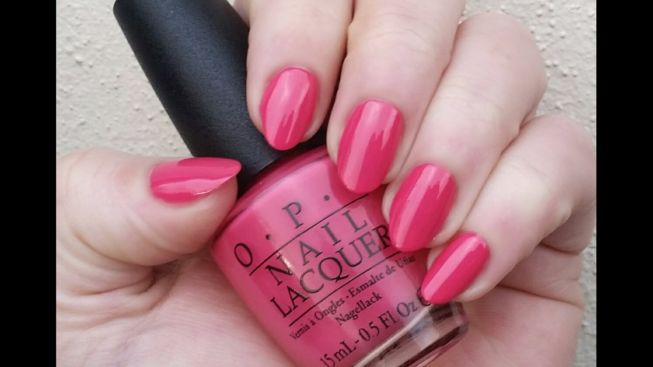 Opi Strawberry Margarita Nail Polish Swatch Review Youtube