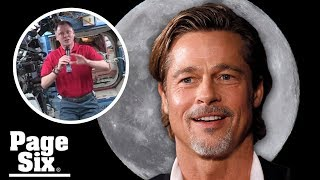 Brad Pitt chats with astronaut Nick Hague about George Clooney | Page Six