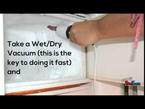 how to defrost refrigerator fast