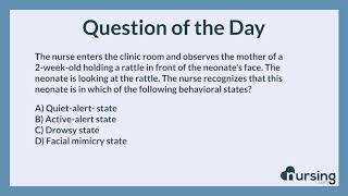 NCLEX Practice Questions: neonate Developmental milestones (Health promotion and maintenance)