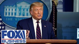 Trump holds Labor Day news conference at White House