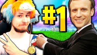 LE PRESIDENT FRANCAIS M'OFFRE UNE MEDAILLE POUR CE TOP 1 SUR FORTNITE BATTLE ROYALE !!!