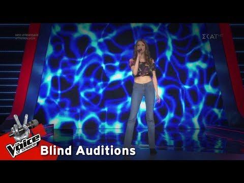 Αμαλία Τζίτζη - I'd Rather go Blind | 10o Blind Audition | The Voice of Greece